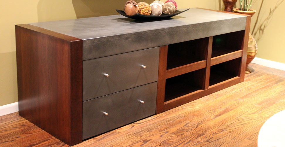 Concrete Media Console   Modern   Coffee Tables   Los Angeles   By Stone  Cold Concrete