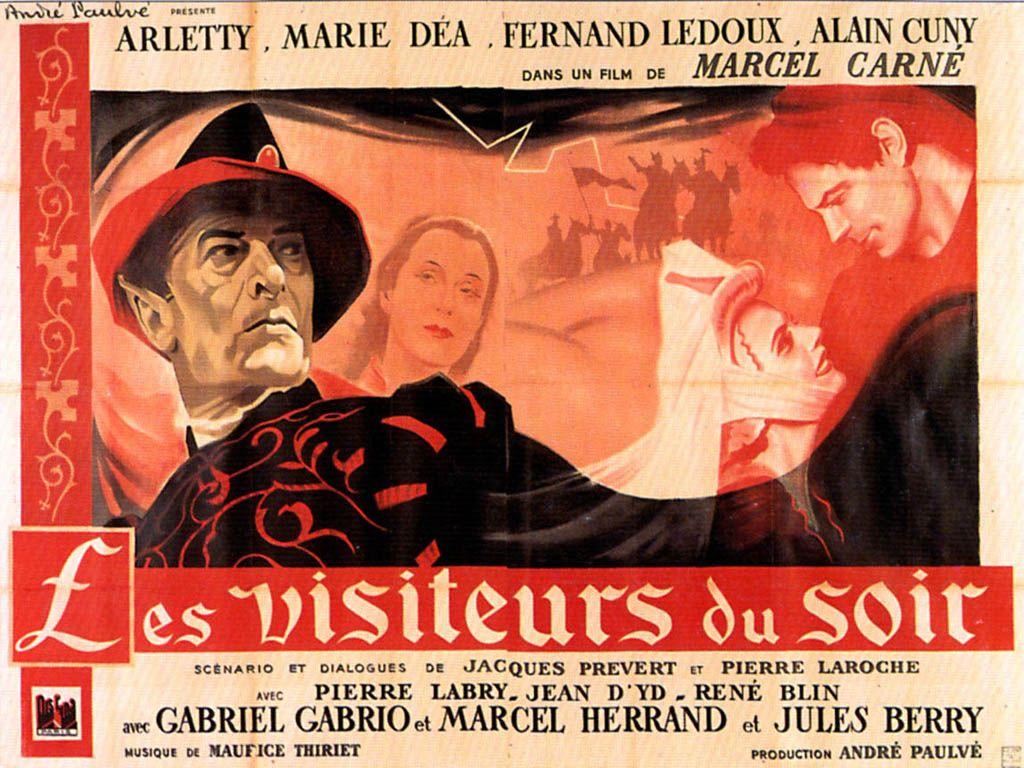 """""""Les Visiteurs du Soir"""" (1942) de Marcel Carné,  Elle apparaissait en troubadour, sous le prénom de Dominique, l'androgyne envoyée du diable. Rôle énigmatique qu'elle a considéré à juste titre comme le tournant de sa carrière"""