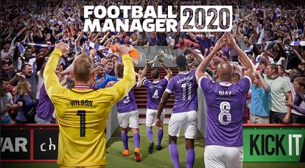 Campione Gratuito Videogioco Football Manager 2020 offerto da Epic Games