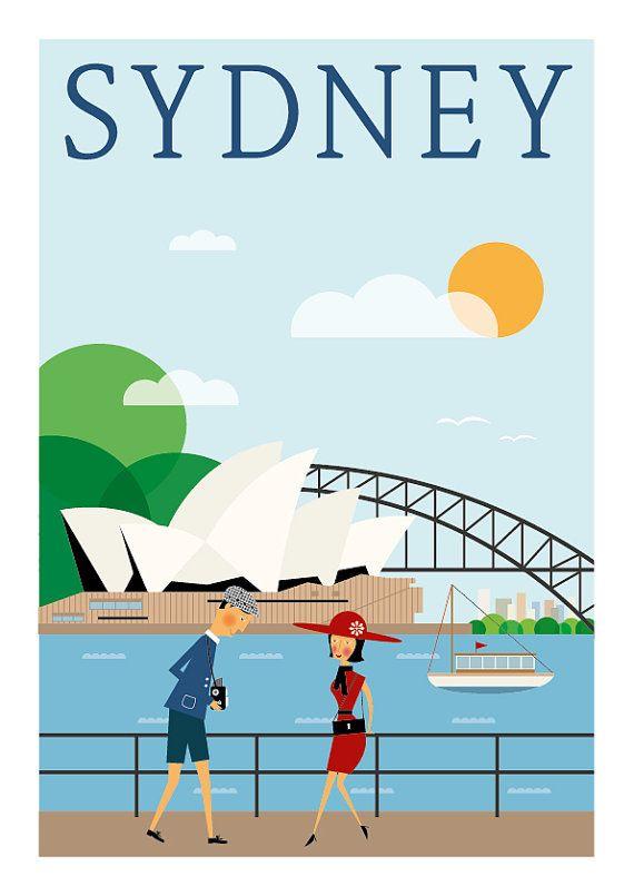 Sydney Home Decor Canvas Print A4 size 210 x 297mm