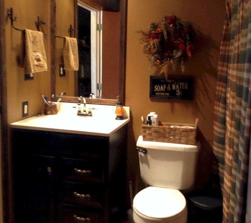49 Romantic Rustic Farmhouse Bathroom Remodel Ideas
