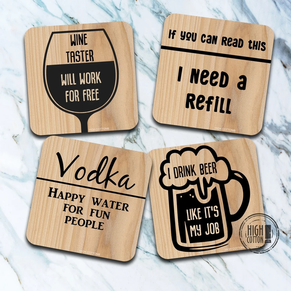Drinking Coaster Assortment By High Cotton In 2020 Drink Coasters Coasters Drink Gift