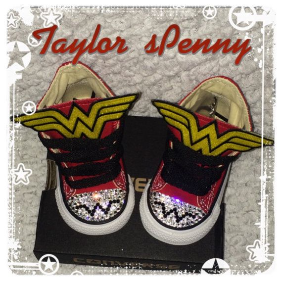 36dcea22f96b WONDER WOMAN BLING CONVERSE CRYSTALLIZED WITH RHINESTONES AND PATCHES. MARVEL  SNEAKERS DC SNEAKERS FOR WONDERWOMAN WONDERWOMEN