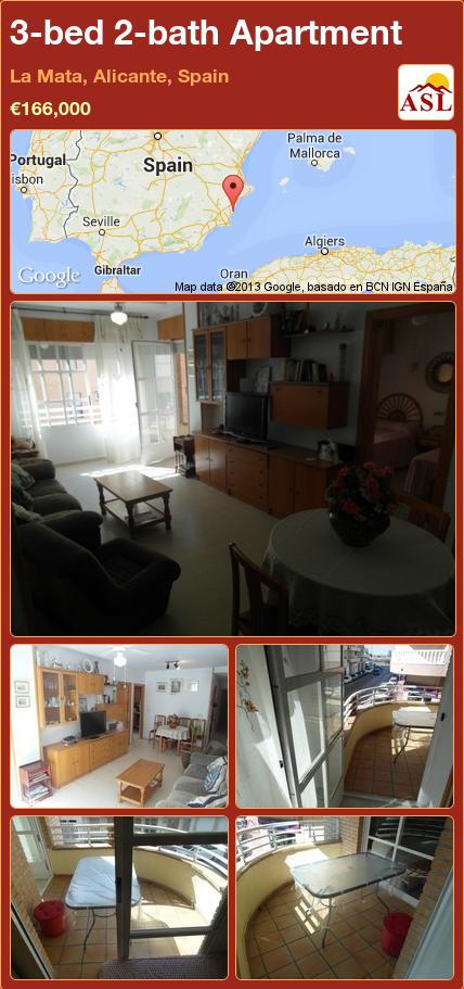 3bed 2bath Apartment in La Mata, Alicante, Spain