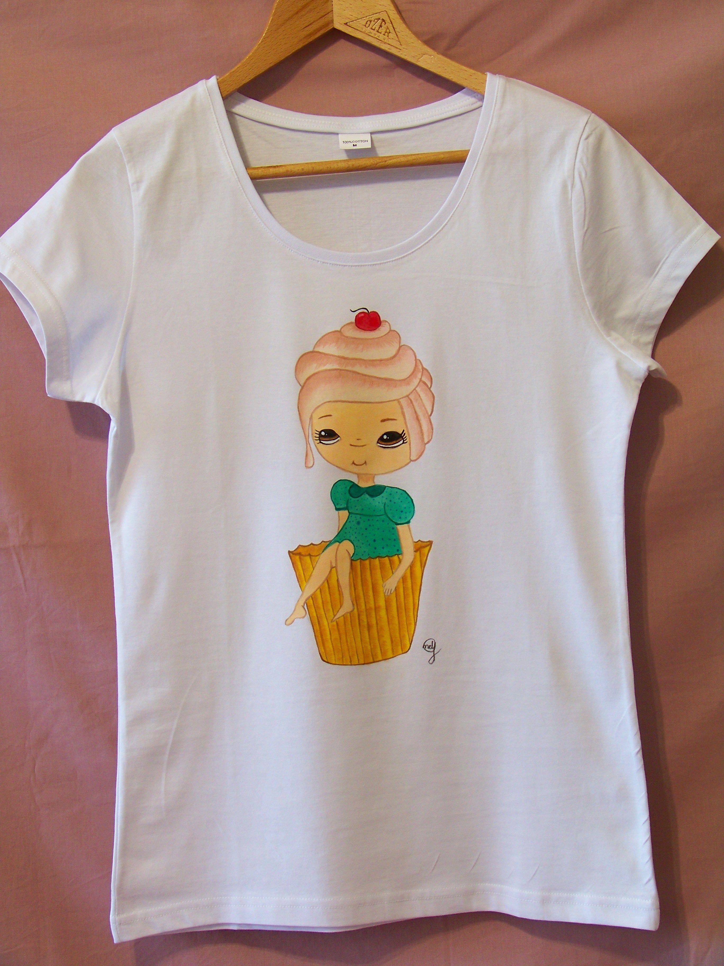 T shirt handmade design - Cupcake Girl Thelollipopdesign Handmade Design Accessories Customdesign