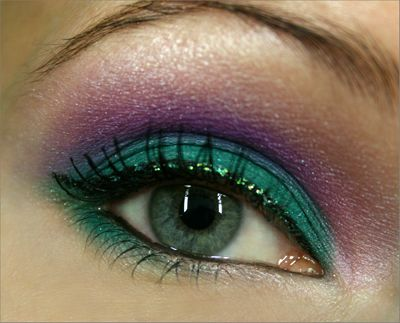 Turquoise and Purple with a little Glitter #Makeup