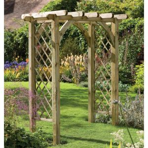 Patio Wooden Garden Pergola Arch Rose Trellis Flower Outdoor Shade Entrance Way