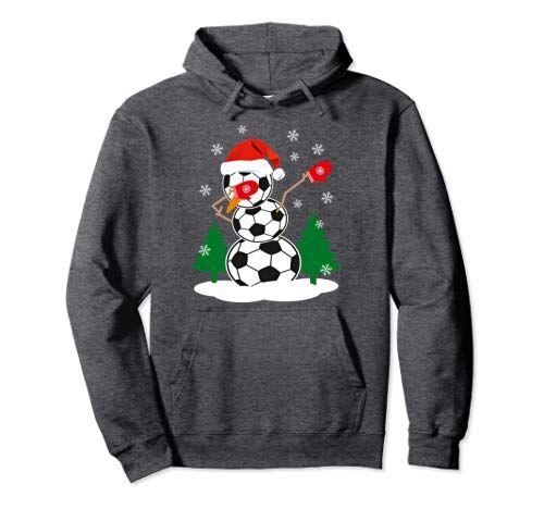 fedab62c53bc2 Dabbing Snowman Christmas Shirt Snowman Dabbing Soccer Ball Funny Christmas  Hoodie Gift Idea Nice for a