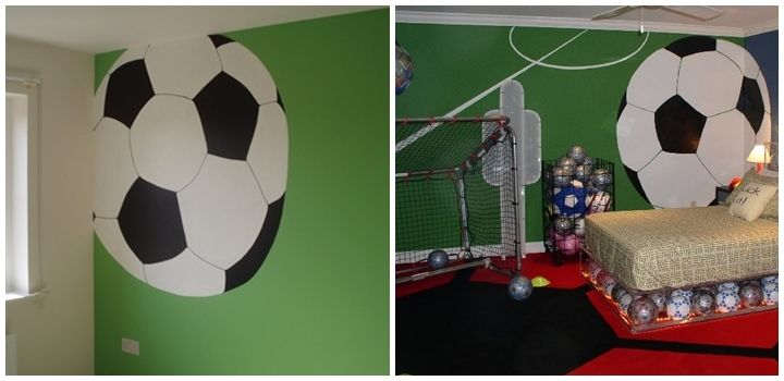 Habitaci n infantil futbolera deco habitaciones chicos - Habitaciones decoradas para ninos ...