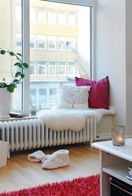 Rincones de lectura ideales #hogar #decoración #nórdico #ventana