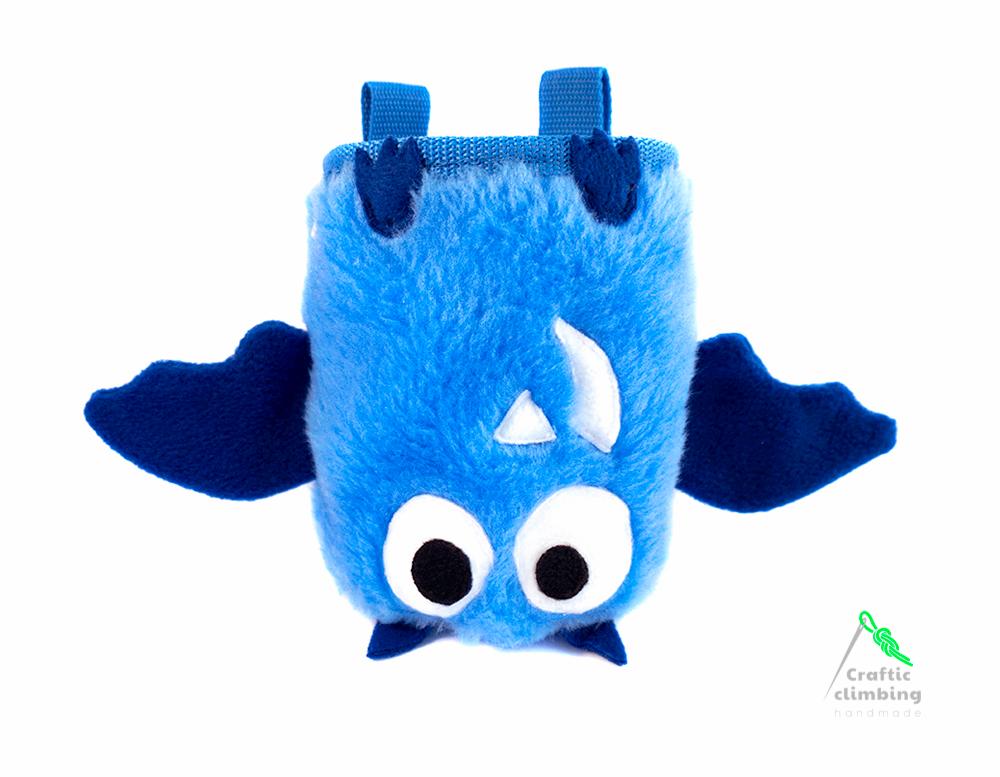 blue bat chalk bag climbing pinterest