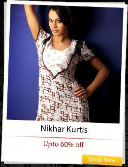 Nikhar #Kurtis at up to 60% off!