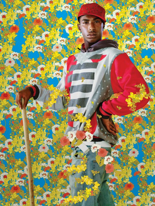 "Kehinde Wiley (American, b. 1977), After Sir Anthony Van Dyck's ""La Roi A La Chasse"" (from Black Light series), 2009."
