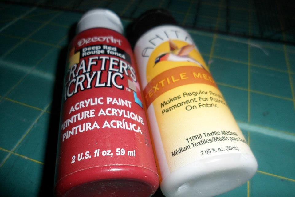 Acrylic Paint Can Be Made Into Fabric Paint By Using A Textile Medium Textile Medium Paint Cans Fabric Paint