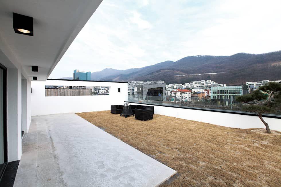Dach Von 블루하우스 코리아 Dachformen Dachkonstruktion Flachdach