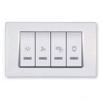Bathroom Switch With Indication For Four Independent Circuits 10 2x16ax 250v Bathroom Fan Heater Bathroom