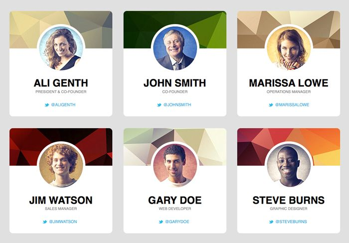 Web design staff profiles | User Interface Design | Pinterest ...