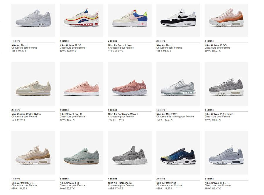 Bon plan] Code promo Nike Store mai 2019 : 20% de réduction