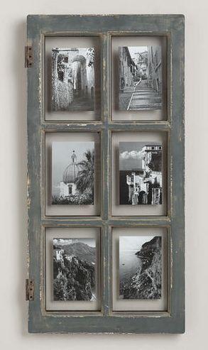 Trasformare una vecchia finestra in un portafoto molto - Quadri con finestre ...