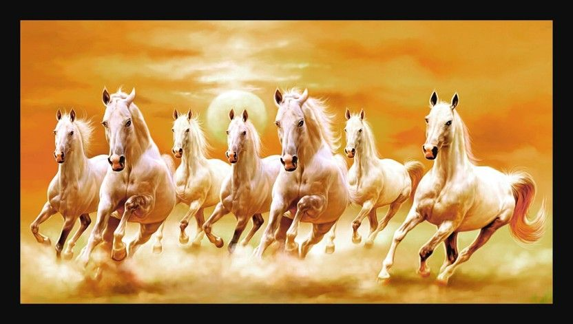 Running Horse Wallpaper Vastu 61 Pictures In 2020 Horse Wallpaper White Horse Painting Seven Horses Painting