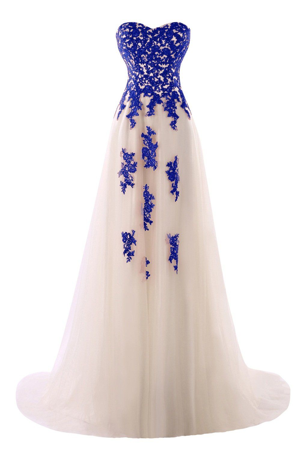 Dasior womenus tulle lace long evening party dress prom gown with
