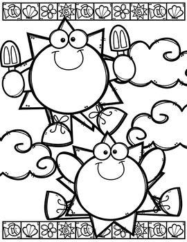 end of summer coloring pages - photo#25