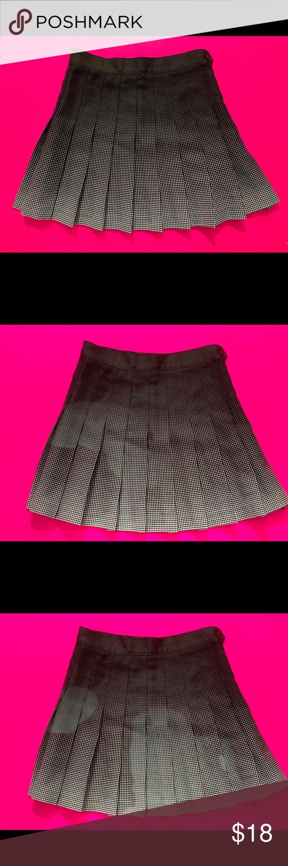 22ef90032 American Apparel Black Tennis Skirt ORIGINAL American Apparel Black White  Ombre Gradient Pleated Tennis Skirt XS Brand new never been worn American  Apparel ...