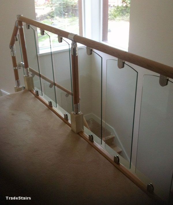 S Vision Glass With Fusion Handrail Parts Glass Staircase Oak