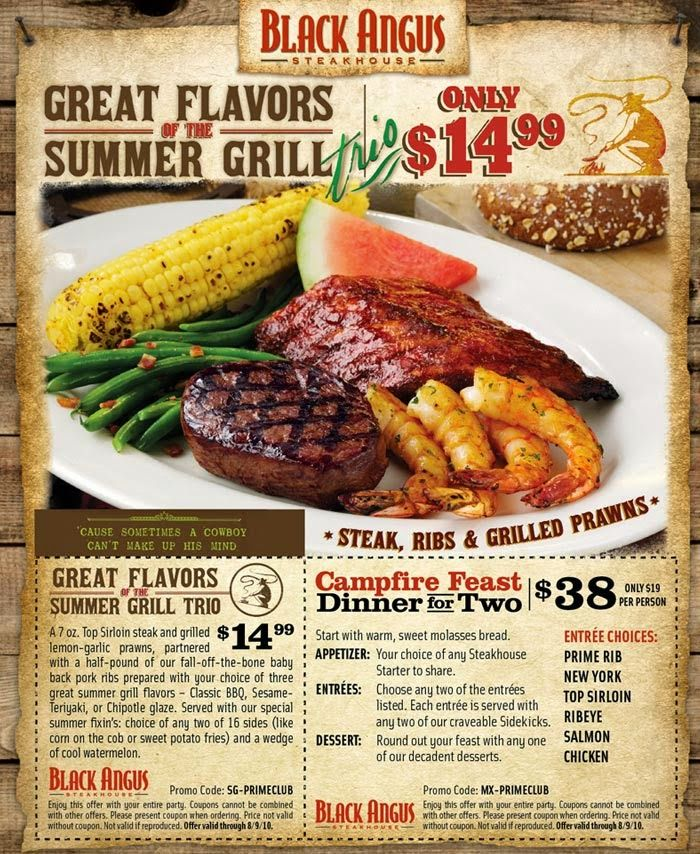 photograph about Black Angus Printable Coupons named Free of charge Printable Discount codes: Black Angus Steakhouse Discount codes