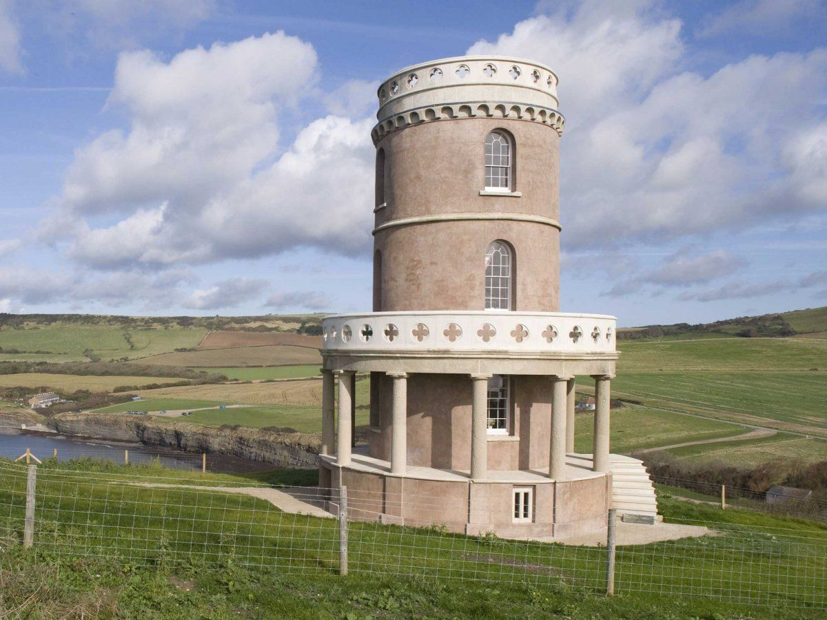 The four-story Clavell Tower is probably the most distinctive property in Landmark Trust's books, and it sits on the Dorset coast.
