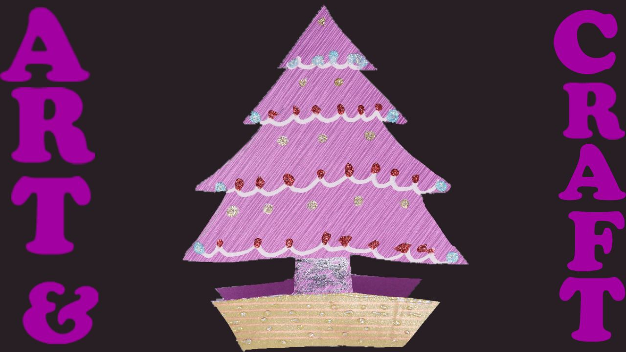 Gorgeous Christmas Tree card. Ideal for teachers, parents and anyone who wants a festive craft activity to do with children. The video takes you step by step through the process.