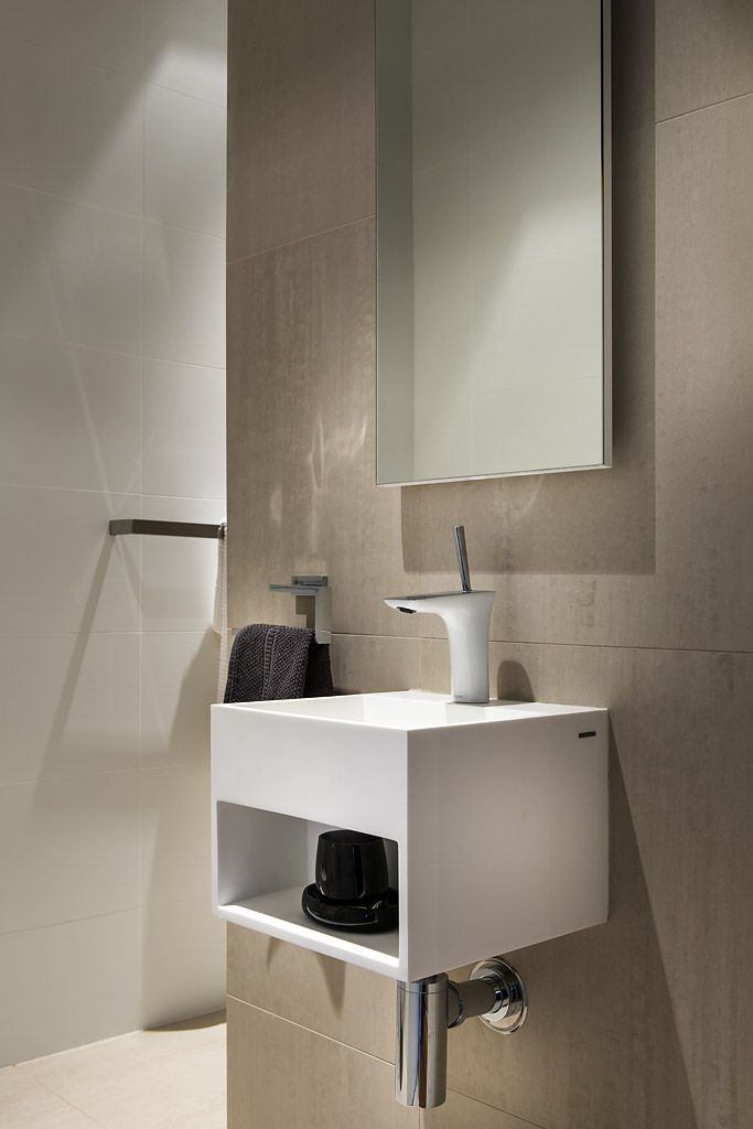 simple compact powder room