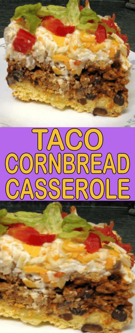 Taco cornbread casserole #mexicancornbreadcasserole