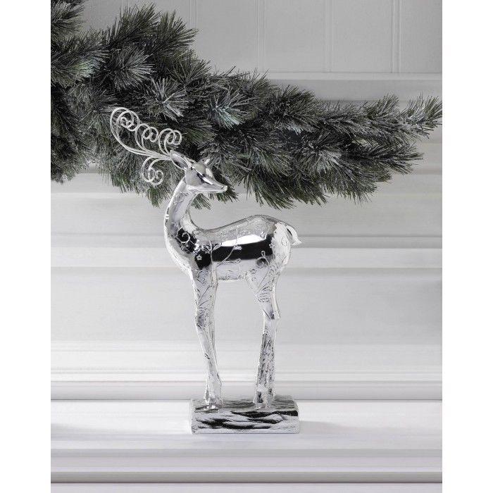 "Glamorous Silver Dancer Reindeer Christmas Statue Holiday Mantel Figurine Decor ChristmasCollection, 13.88"" H, $17.83"