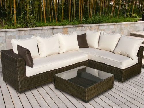 L Shape Patio Table Furniture Glass Replacement Modern