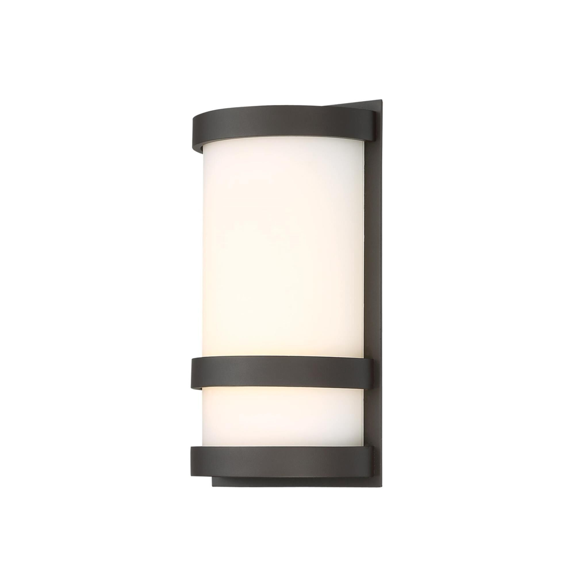 Latitude 10 Inch Tall 1 Light Led Outdoor Wall Light By Dweled