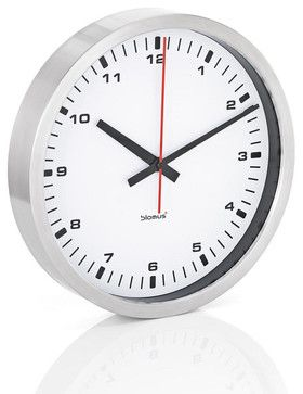 Era Stainless Steel Wall Clock Large White Contemporary Clocks Puremodern Small Wall Clock Oversized Wall Clock Contemporary Wall Clock