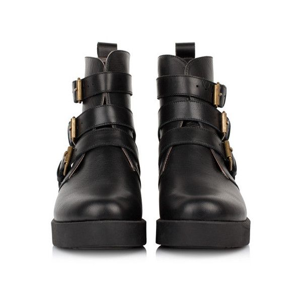 Black Ankle Boots ❤ liked on Polyvore featuring shoes, boots, ankle booties, short black boots, leather boots, black booties, black leather ankle booties and leather booties