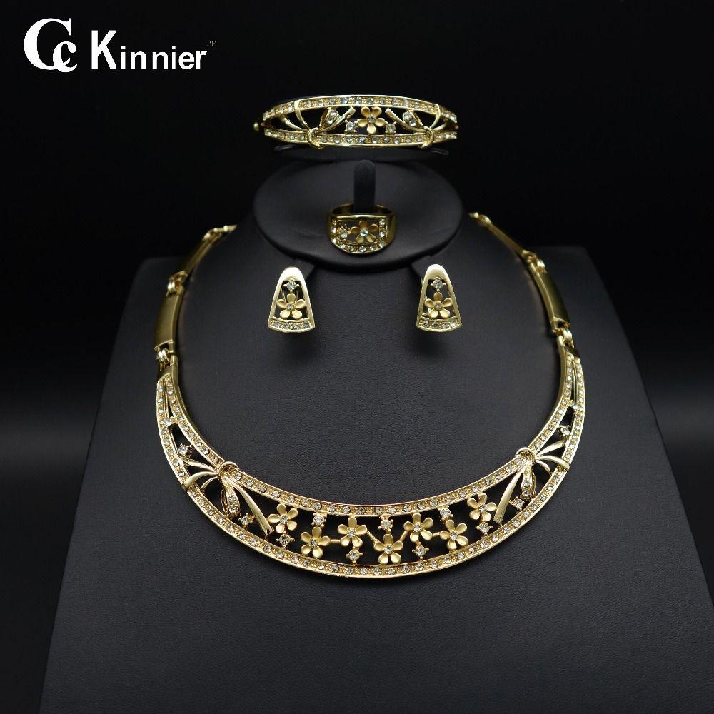New nigeria wedding african goldcolor earrings dubai fashion