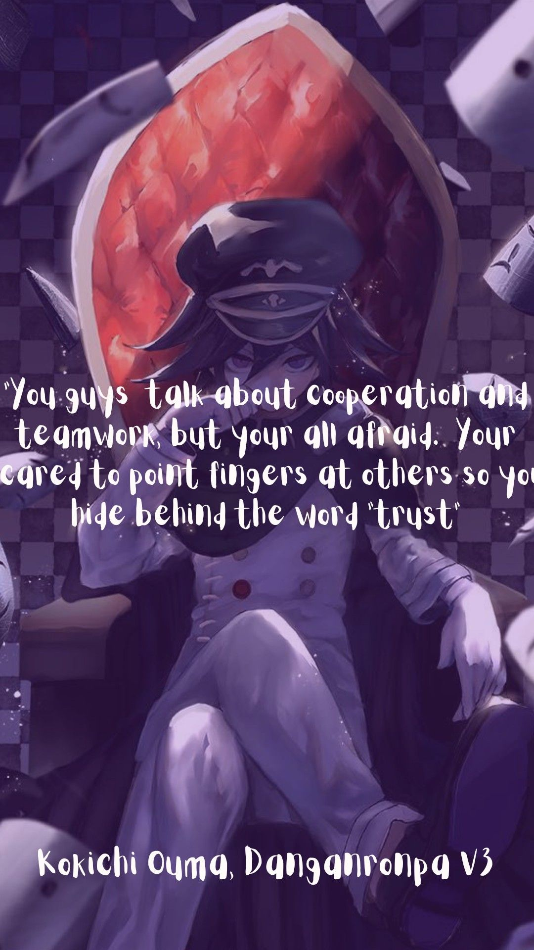 Kokichi Quotes : kokichi, quotes, Kokichi, Phone, Wallpaper, Quote, Quotes,
