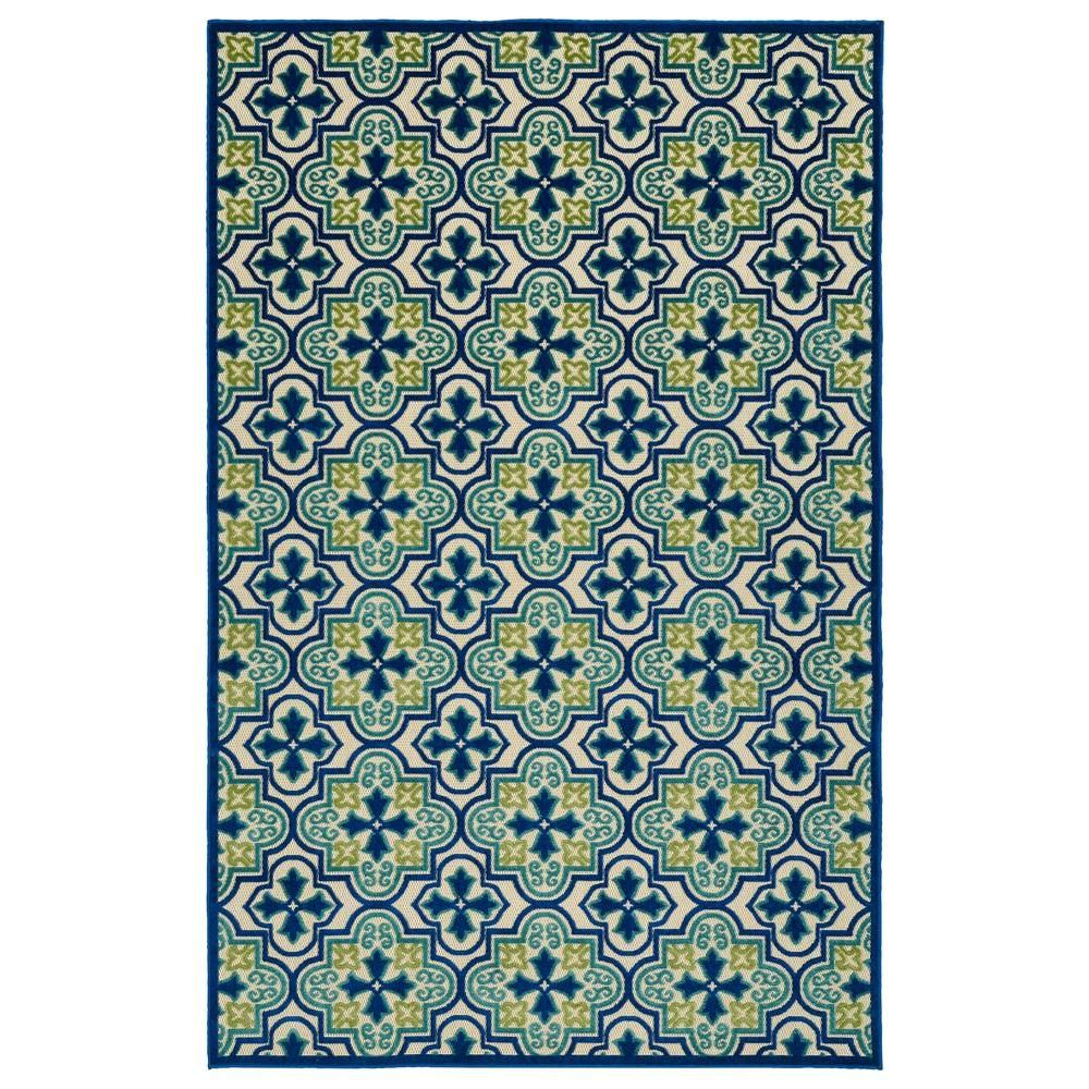 Kaleen Five Seasons Blue 8 Ft X 11 Ft Indoor Outdoor Area Rug Fsr104 17 710108 The Home Depot Indoor Outdoor Area Rugs Indoor Outdoor Rugs Outdoor Rugs