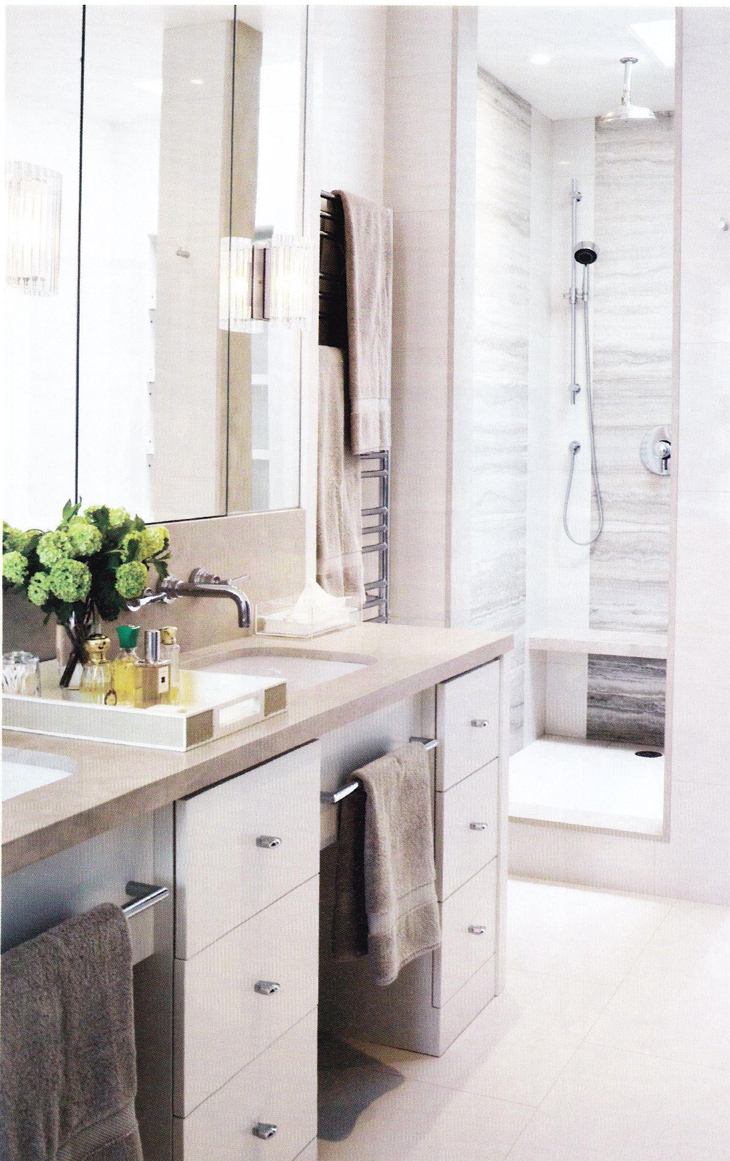 Vanity With Recessed Towel Bars Bathroom Design Vanity Towel Bar