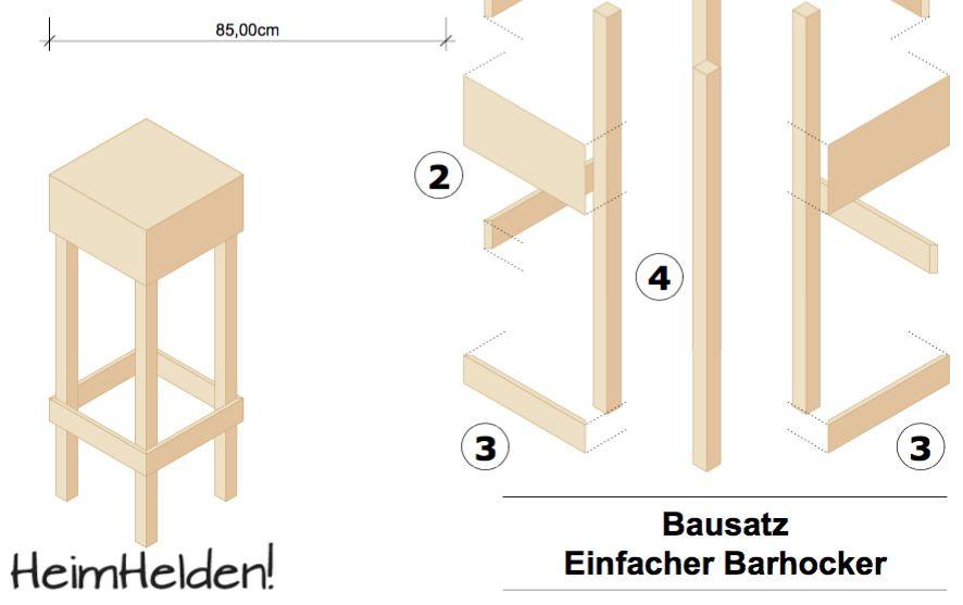 Bauanleitung Barhocker Hocker Barhocker Barhocker Holz
