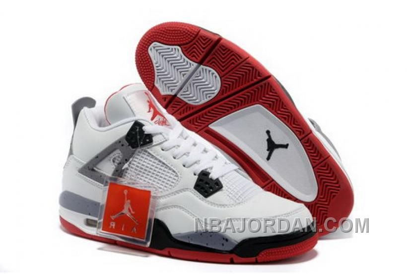 brand new 30474 7b2c8 Buy Air Jordan 4 New Colorway White Red Cement Grey Leather Livraison  Gratuite from Reliable Air Jordan 4 New Colorway White Red Cement Grey  Leather ...