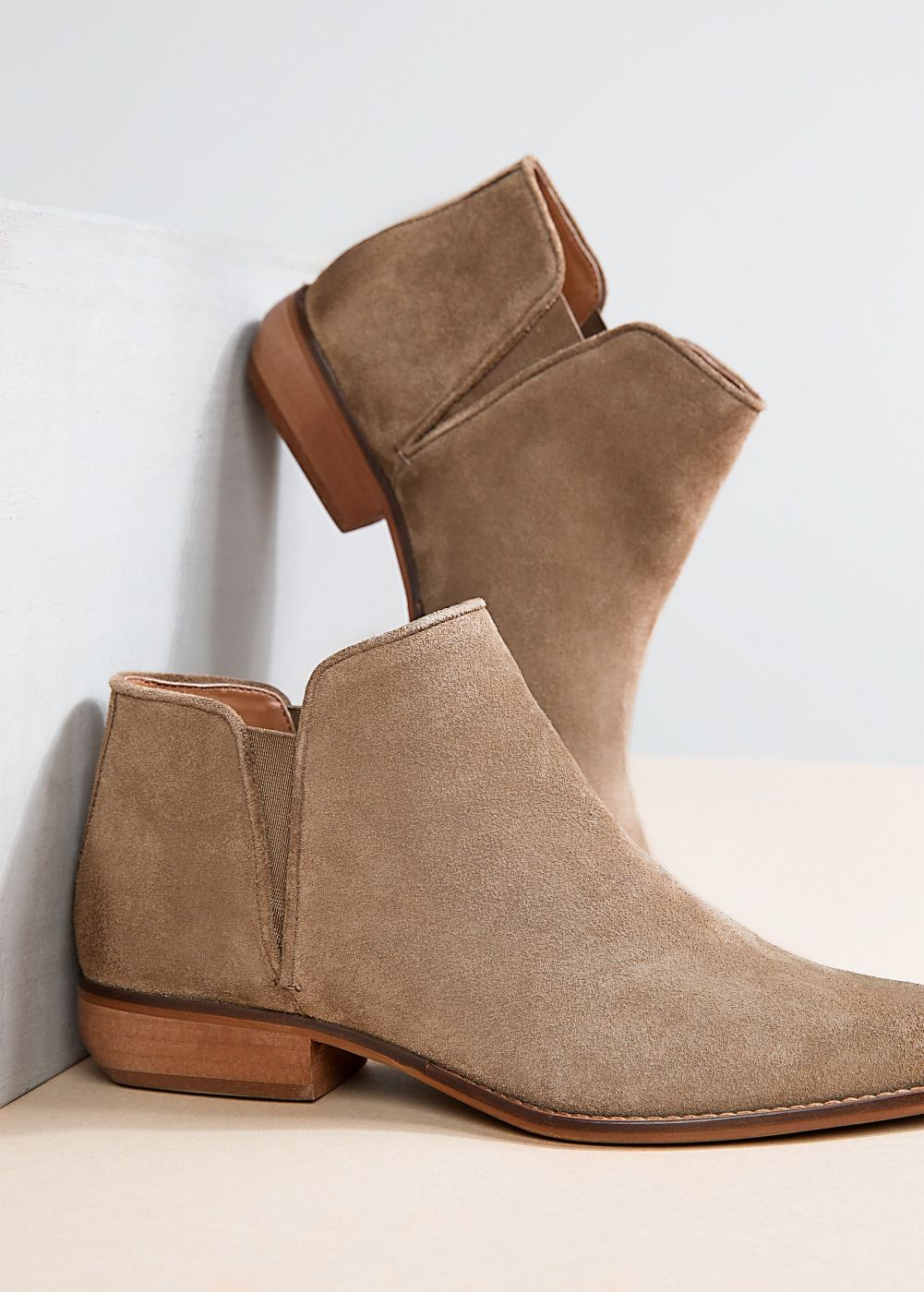 Flat suede ankle boots - Women  1b0cd3b68