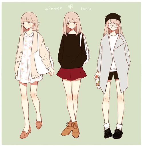 (15) Tumblr   Lookbook   Anime ropa, Dibujar ropa animé và ...