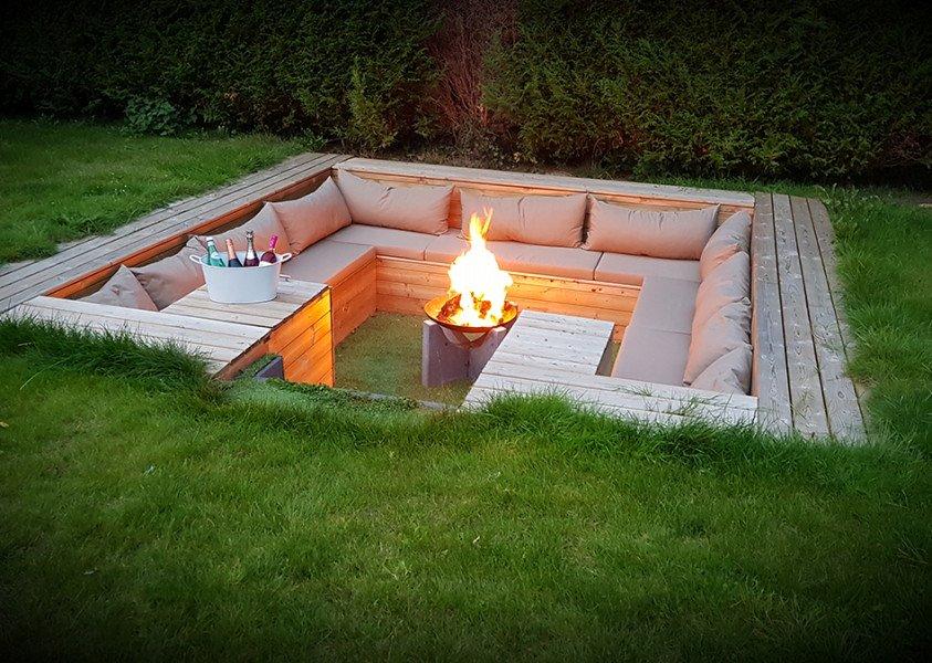 Inspiratie | Maatkussens #feuerstellegarten Inspiratie | Maatkussens #backyardpatiodesigns