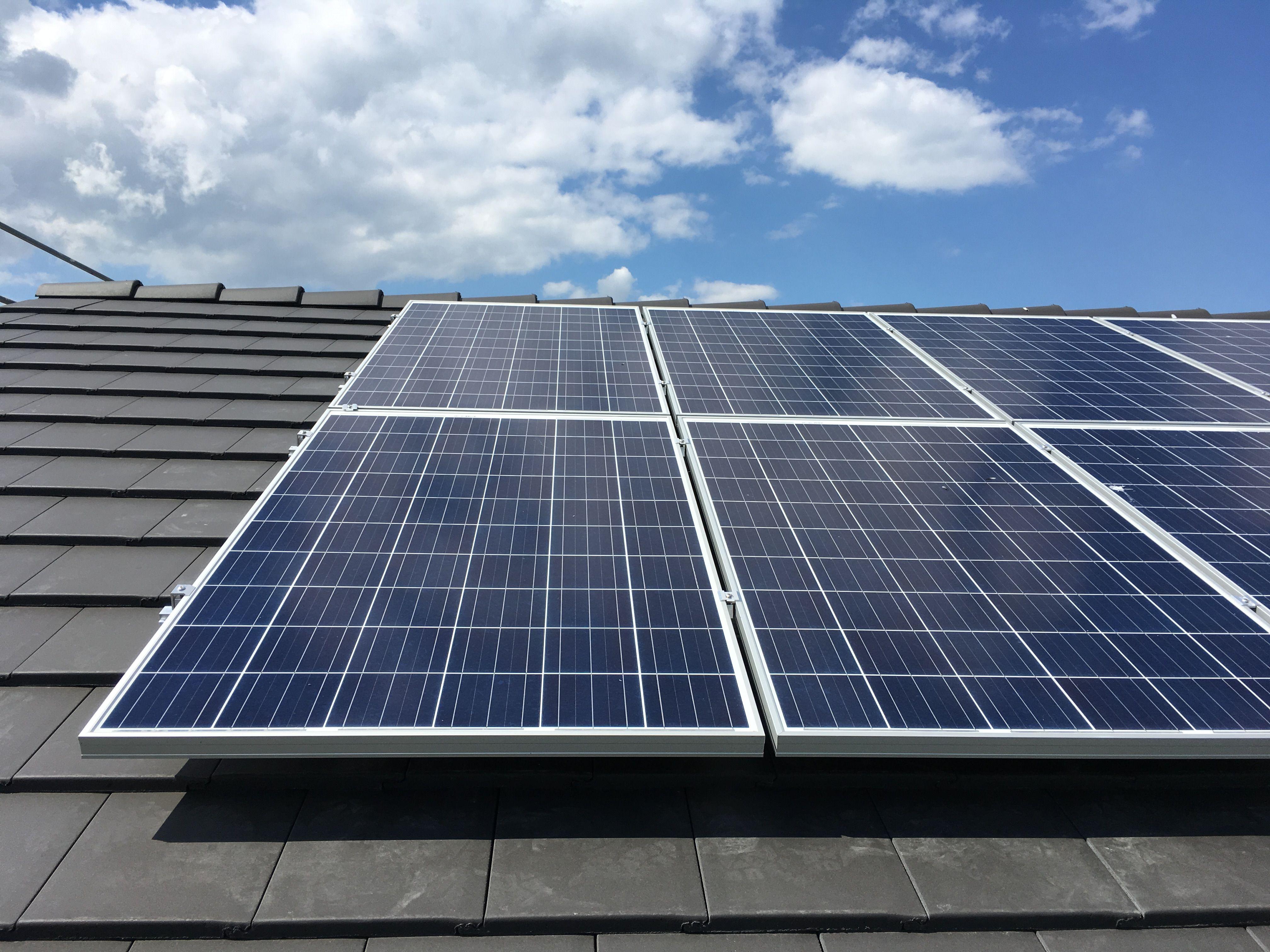 Kw23 Photovoltaikanlage Ist Auf Dem Dach Installiert Musterhaus
