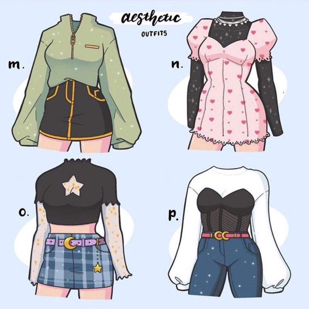 Tumblr Fashion Design Sketches Drawing Anime Clothes Aesthetic Clothes