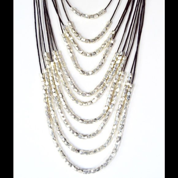 FINAL SALE! Chocolate/Silver Necklace Silver Beads. Jewelry Necklaces